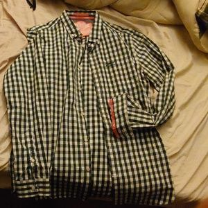 Superdry check button up